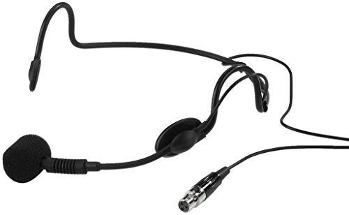 IMG Stage Line 234070 - Micrófono de escenario (conector XLR, de auricular), color negro