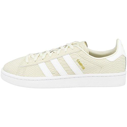 adidas Campus W, Zapatillas de Deporte para Mujer, Blanco (Blacre / Ftwbla / Dormet 000), 37 1/3 EU