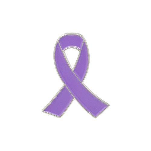 WIZARDPINS Lazo de concienciación púrpura claro esmalte Pin soporte cáncer...