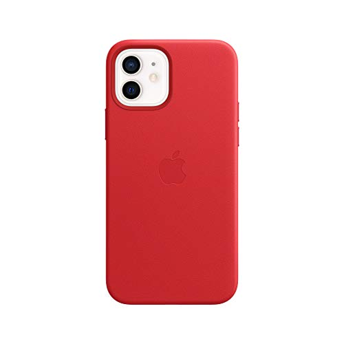 Apple Leder Hülle mit MagSafe (für iPhone 12 | 12 Pro) - (Product) RED - 6.1 Zoll