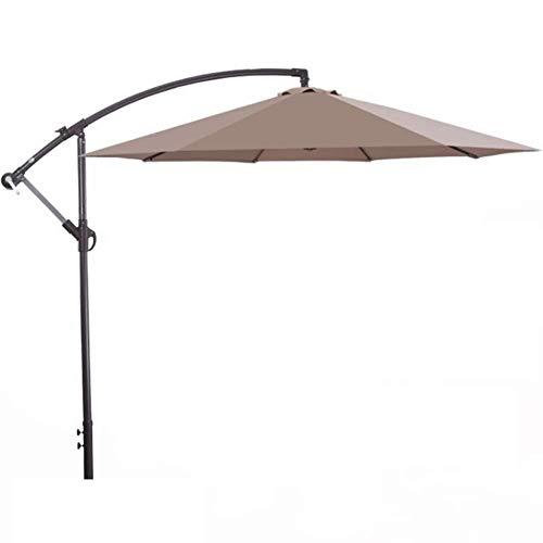ZXL Sombrilla para jardín de 2.7M, sombrilla, voladizo Que cuelga el Dosel del Parasol de 8 Costillas en Aluminio Anti-UV para la Playa/Piscina/Patio/toldo al Aire Libre, Tienda de campaña