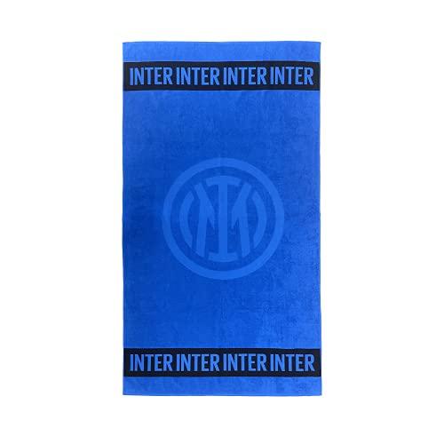 Inter Telo Mare Blu, Cotone, Unisex Adulto, Nero, Taglia Unica