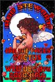 Rod Stewart, Pages, Cactus, Concert Poster at Cobo Hall 13