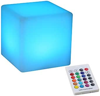 YESIE 4 Inch Rechargeable LED Light Cube 16 Colors LED Nursery Mood Lamp for Breastfeeding Soft product image