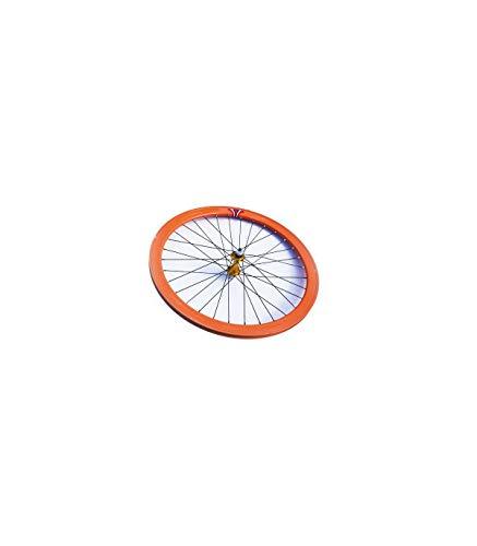 Riscko Wonduu 003m Rueda Delantera Bicicleta Personalizada Fixie Talla M Naranja