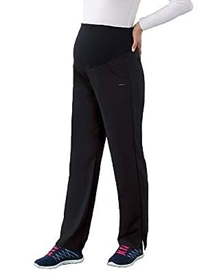 Jockey Scrubs Women's Ultimate Elastic Waist Maternity Pant, Black, Small