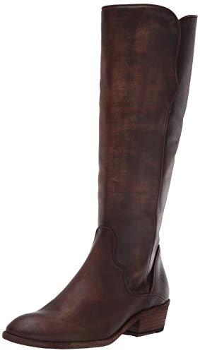 Frye Women's Carson Piping Tall Knee High Boot, Dark Brown, 9.5