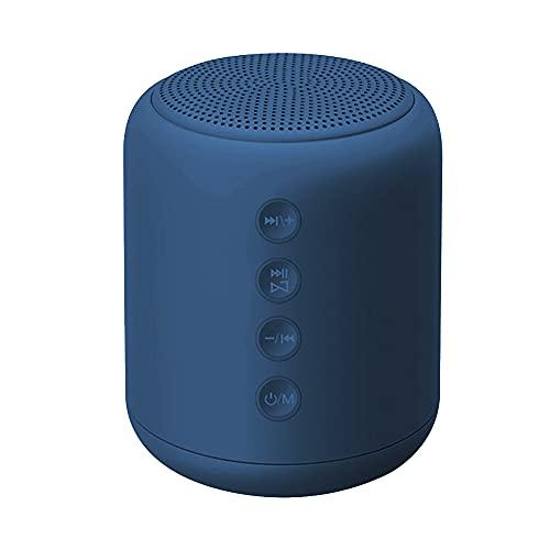 X7 Altavoz inalámbrico Mini Bass TF Tarjeta Altavoz Reproductor MP3 Radio FM Caja de sonido Bluetooth Altavoz compatible con micrófono azul