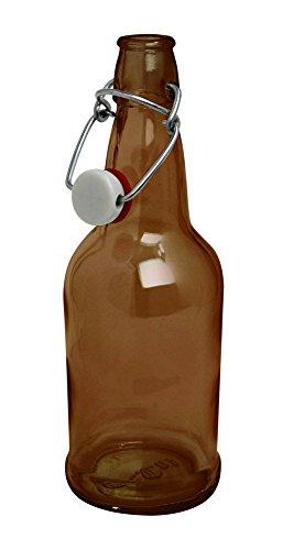 CASE OF 12 - 16 oz. EZ Cap Beer Bottles - AMBER