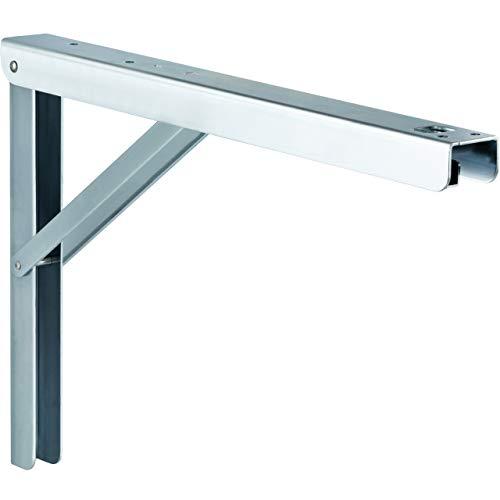 Schwerlast-Konsole Klappkonsole Tisch - Sitzbank Klappträger klappbar PROFI LINE | Metall verzinkt | 400 x 36 x 270 mm | Tragkraft 180 kg | MADE IN GERMANY | 1 Stück - Klappwinkel für Wand-Montage