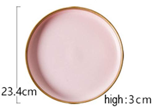 1 stuk servies in Europese stijl mat poeder goud keramiek westerse gerechten Nordic rijst gerechten cup steak kom western gerechten dessertbord, G.