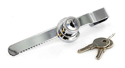 Chrom Glas-Schiebetür Tür Schrank Schloss mit 2Schlüssel Schlüssel