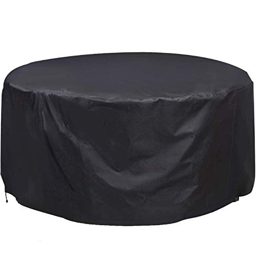 Photo of Enipate Garden Furniture Cover Waterproof, Round Patio Table Cover 210D Oxford Cloth, Anti-UV & Windproof Circular Patio Furniture Cover for Outdoor