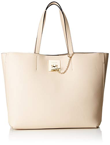 Calvin Klein Ck Lock Shopper - Borse Tote Donna, Grigio (Light Sand), 16x31x36 cm (B x H T)