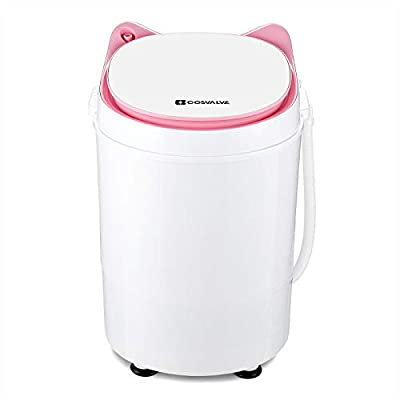2-in-1 Portable Washing Machine Washer And Spin Dryer For Camping Dorms Apartments College Rooms 3 KG Washer Capacity Pink