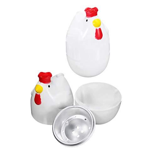 2 x Huhn Form Eier Kochen Kunststoff Eierkocher Mikrowelle Kochen Werkzeug