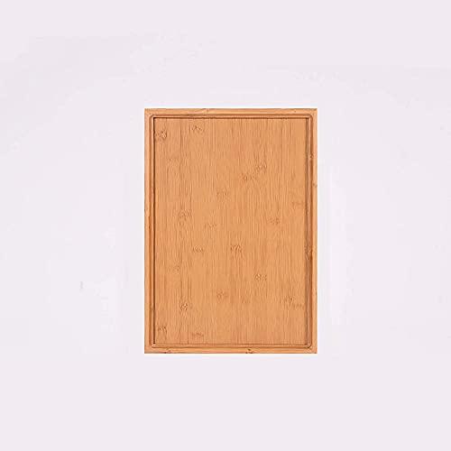 WBDZ Home Bandeja de bambú para Servir, Bandeja de Madera para Servir, con Asas, Platos rectangulares Redondos para Servir, Bandeja para Servir para cenas Grandes de cumpleaños-A5 41x29x2.6cm