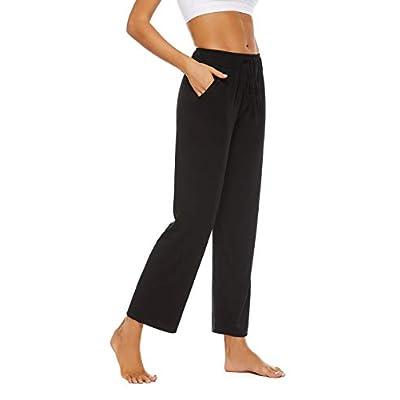 Amazon - 435 Off on  Womens Comfy Lounge Pants Cotton Yoga Pants Soft Drawstring Loose Pants