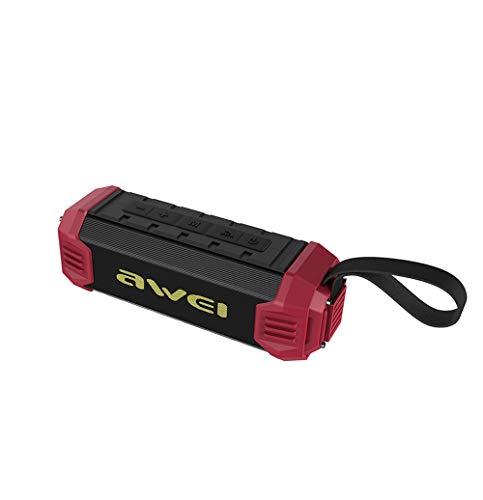 SHENGY Altavoz Bluetooth al Aire Libre del bajo handfree con la Radio de FM, 4000Mah Banco de la energía NFC Altavoz inalámbrico Ipx4 Impermeable y a Prueba de Polvo,Red