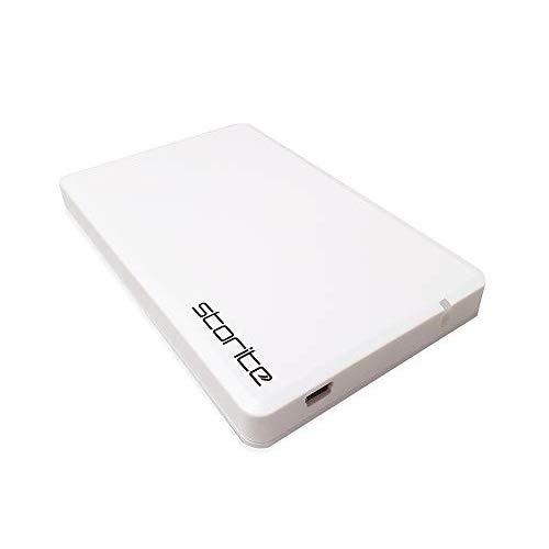 """Storite Hard disk esterno 2.5"""" 2.0 USB sottile e leggero portatile Hardrive per computer, laptop, PC, giochi, Mac, Chromebook - per archiviazione e backup (250 GB, bianco)"""