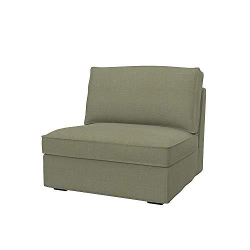 Soferia Funda de Repuesto para IKEA KIVIK seccion 1 Asiento, Tela Elegance Taupe, Beige