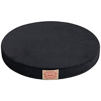 "Shinnwa Chair Pad,Round Memory Foam Seat Cushion Lumbar Support Pillow for Chair Black 16"""