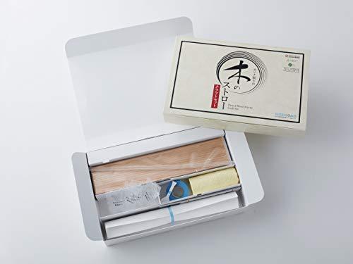 アキュラホーム カンナ削りの木のストロー 手作りキット (30本セット) 工作 キット (日本製/木製/間伐材) エコストロー SDGs 環境