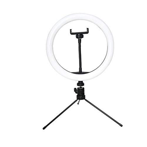 Sunjiaxingzd Reloj Herramienta Selfie Luz Regulable 10 pulgadas/26 cm Lámpara con Trípode para Youtube Maquillaje Fotografía Vlog