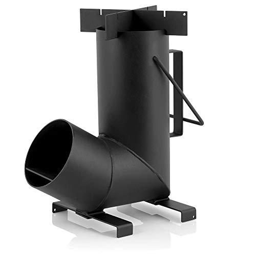 BBQ-Toro - Stufa a razzo #6, Rocket Stove in acciaio spesso 1,5 mm, per forno olandese, padelle e molto altro ancora
