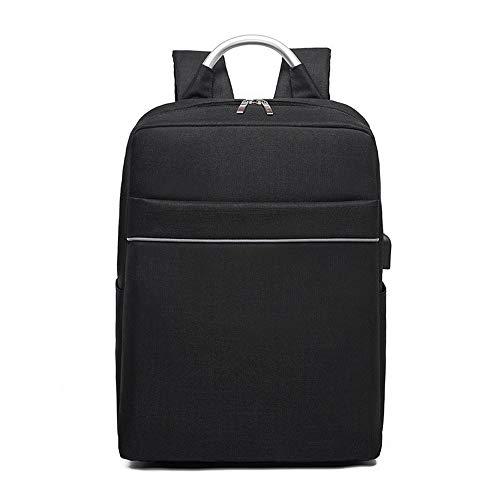 CLCCYYSJD Smart USB Charging Backpack Large Capacity Traveling Shoulder Bag Oxford Waterproof Laptop Backpack (Color : Black)