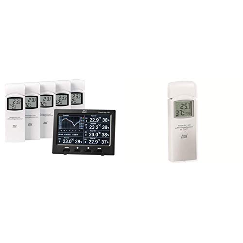 dnt Raumklimastation RoomLogg PRO + Zusatz-Thermo-/Hygrosensor