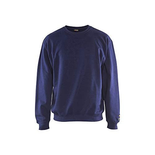Blaklader 3074176089004XL Sweat-shirt difficilement inflammable Bleu marine Taille 4XL