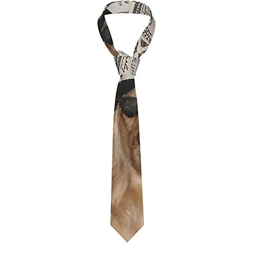 LINGF Witch Ouija Board Gothic Vintage Satánico Corbata para hombre Corbata formal clásica Cuello Flaco Corbatas