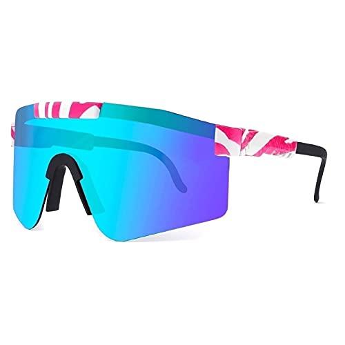 ZXQ Gafas de Sol Deportivas polarizadas para Hombres y Mujeres, Pit -Vipers Gafas de Ciclismo polarizadas Golf (Color : C7, Tamaño : 5.4in x4.4in x2.3in)