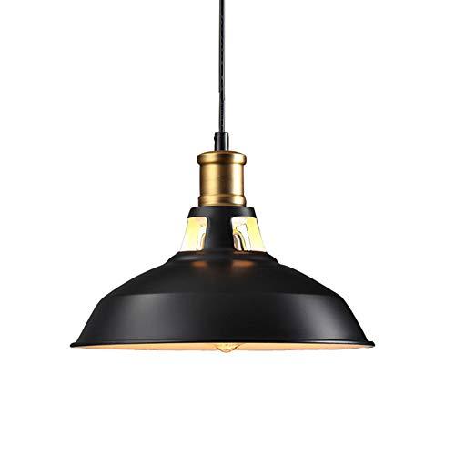 Vintage Metal Industriel Pendentif Lampes Rétro Lampe De Plafond Edison Ampoule Café Pendentif Éclairage Cuisine Restaurant Luminaire Drop Light, E27 porte-lampe (Taille : 27cm)