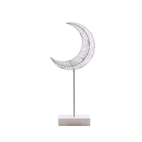 Xiton - Lámpara de noche LED de ratán, diseño de luna de ratán, para dormitorio, sala de estar, decoración del hogar