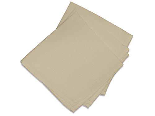Soleil d'Ocre 838232 Lot de 3 Alix Serviettes de Table Polyester Ecru/Taupe 40 x 40 cm