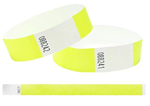 Tyvek Wristbands 3/4 inch 100 pack, Paper like Bracelets used for events,...