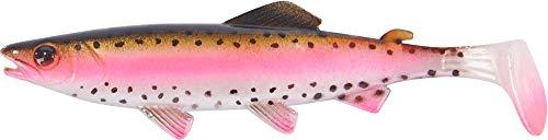 Balzer Shirasu Clone Shad - Gummifisch zum Spinnfischen auf Hechte, Zander & Barsche, Gummiköder, Gummishad, Hechtköder, Softbait, Länge:9cm, Farbe:UV Trout