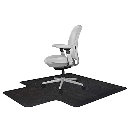 ResiliaOfficeDeskChairMatwithLip-forCarpet(withGrippers)Black,36Inc...