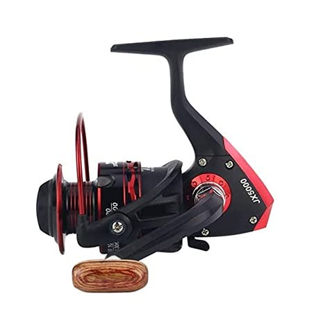 LQJin 2020 Carrete de Metal Spinning Carrete de Pesca 12BB Rueda Superior for la Pesca de Agua Dulce de Agua Dulce 1000-7000 Series 5.5: 1 Rueda de Rueda (Color : Red, Size : 2000 Series)