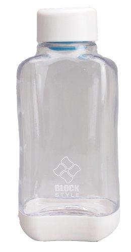 パール金属 水筒 500ml 直飲み PCアクア ボトル クリア ブロックスタイル H-6031