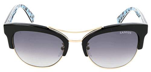 Lavin Lanvin Sonnenbrille SLN724V 0APA 53 20 140 Gafas de sol, Negro (Schwarz), 53.0 para Mujer