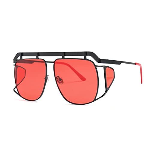 xzl Gafas de Sol para Hombres/Mujeres Protección polarizada Rasguño Resistente a los arañazos, Polarized Moda de Gran tamaño Vintage Gafas, 100% de protección UV, C
