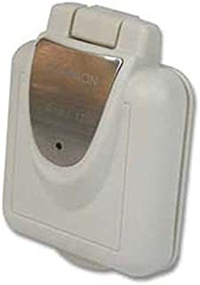AMRF-F30INS-PS * Furrion 30 Amp Inlet- Square Non-Metallic- White