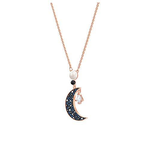 ZWP Estrella Luna Colgante De Perlas Estrella Luna Borla Collar Mujer