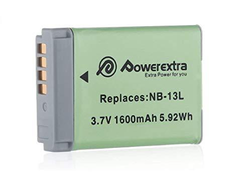 Powerextra NB-13L 互換バッテリー Canon/キャノン Canon PowerShot G5X G7X G7X Mark II G9X G9X Mark II SX620 HS SX720 HS SX730 HS SX740 HS 対応純正互換バッテリー 期間【PSEマーク付】