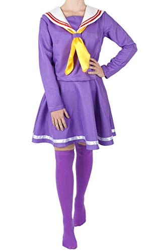 CoolChange Uniforme Escolar de Shiro de No Game No Life, tamaño: M
