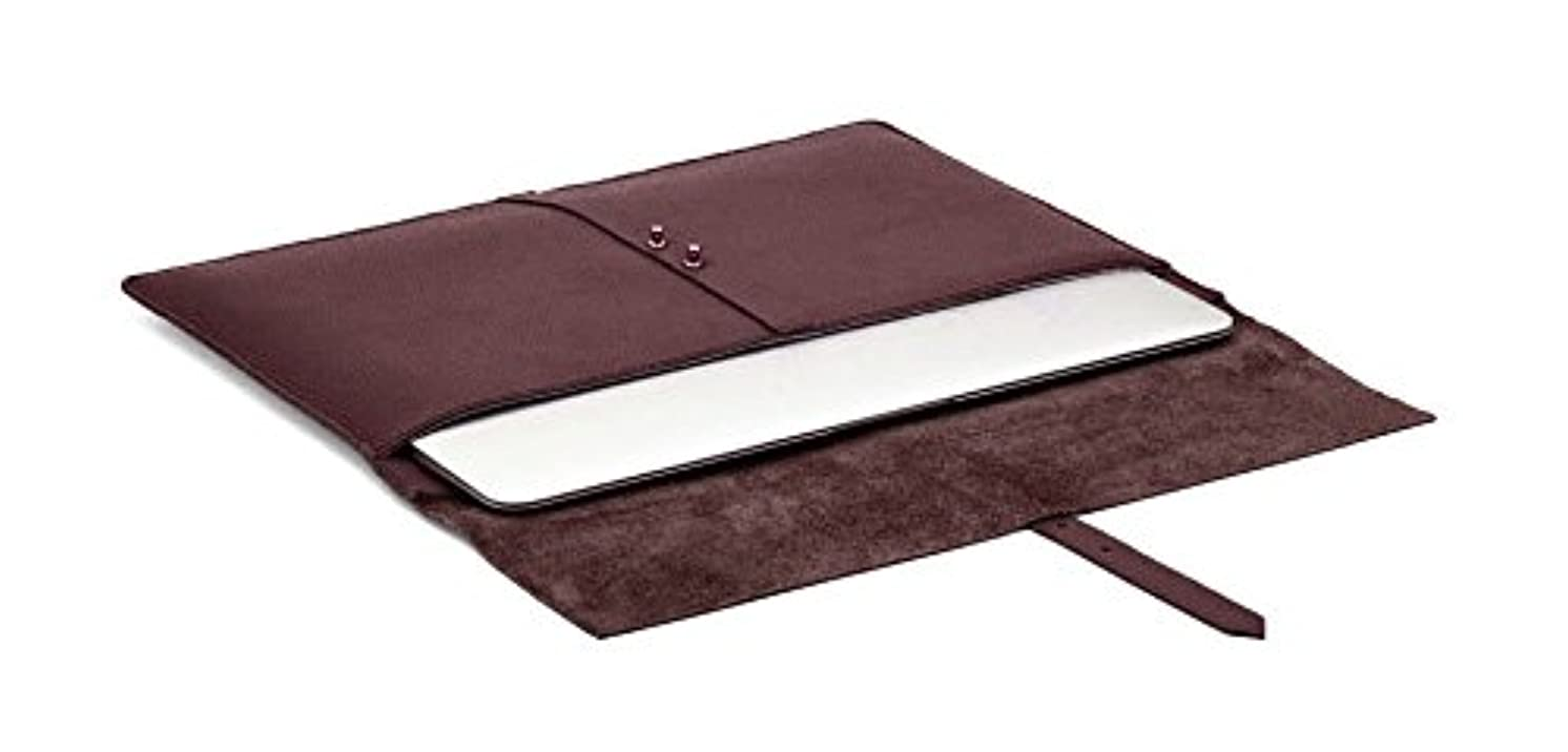 Chalk Factory Genuine Leather Sleeve with Felt inside Custom made for Dell 15R Series Laptop #CYFELT, Cherry