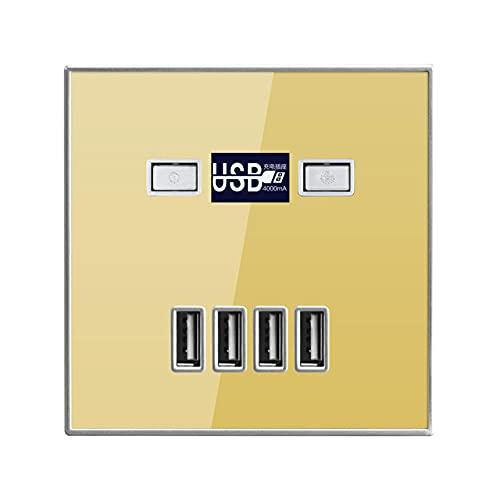 Outlet de carga rápida USB de 4 puertos DC 5V 4A Tablero de carga de la pared Tablero de conexión USB AC 220V / 36V-Oro_24-36v